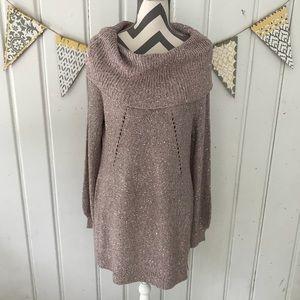 Nine West Jeans Sequin Cowl Neck Sweater Dress